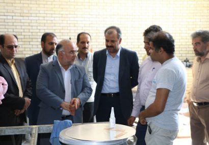 بازدید فرماندار شهرستان  فلاورجان از واحدهای تولیدی شهرک صنعتی