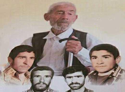 پدر شهیدان احمدی  آسمانی شد