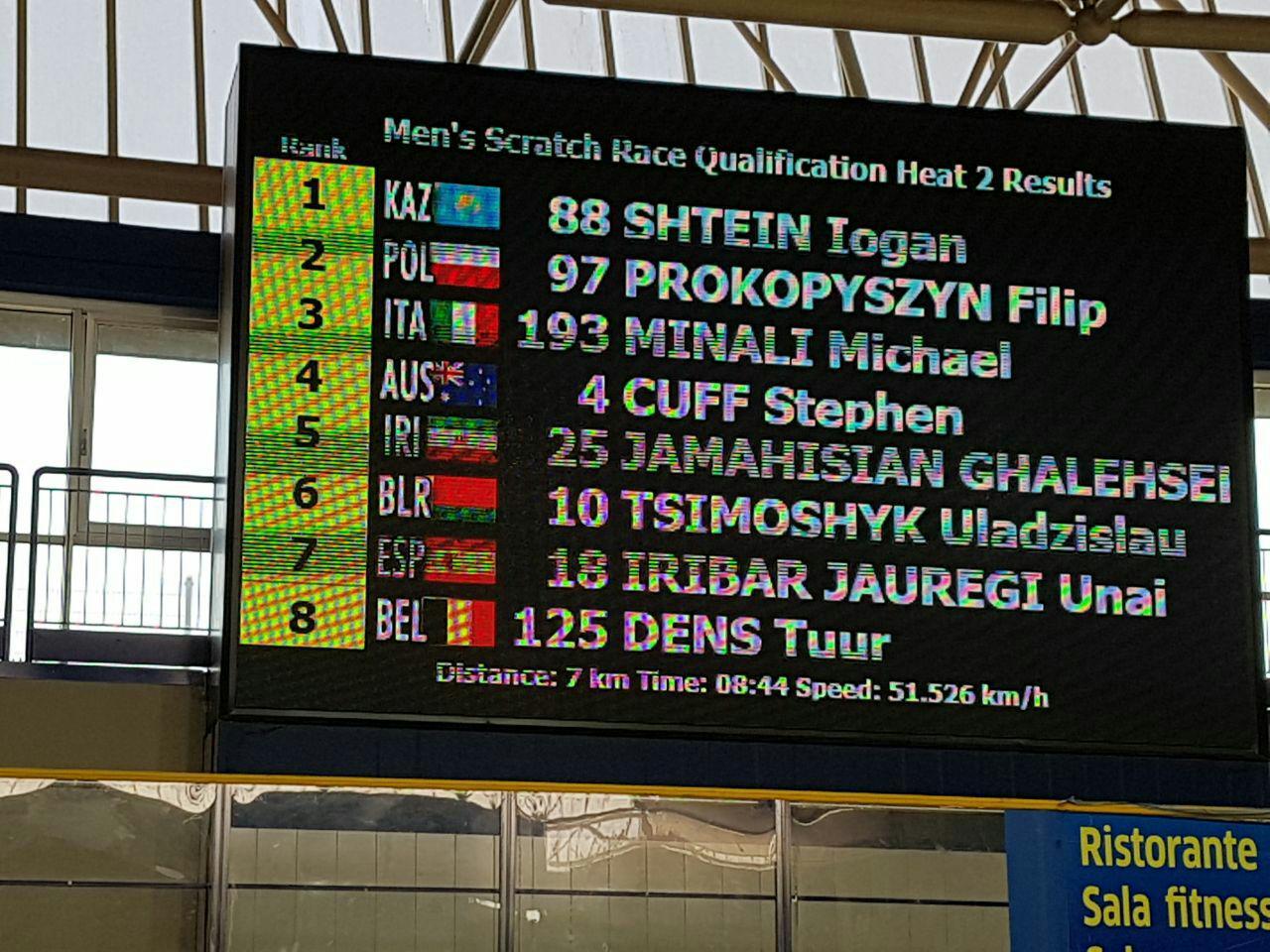 راهیابی رکابزن قهدریجانی به فینال مسابقات قهرمانی جهان