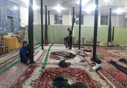 آمادگی هیئت های مذهبی فلاورجان برای عزاداری ماه محرم+تصاویر