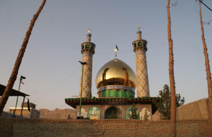 گنبد حرم  امامزاده محمدبن عبدالله (علیه السلام) لارگان رونمایی شد