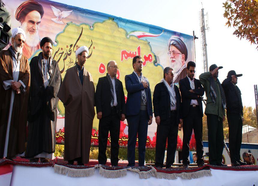 رژه یگانهای بسیج درفلاورجان  برگزار شد+تصاویر ۱