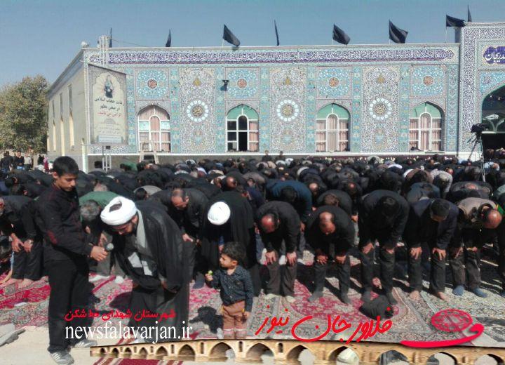 28319085500 283 - اقامه نماز ظهر اربعین در  امامزاده سیدمحمد (ع) قهدریجان +عکس+فیلم