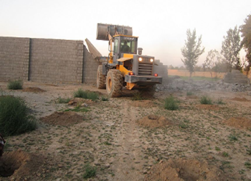 ۷مورد قلع و قمع ساخت و ساز غیر مجاز در اراضی کشاورزی قهدریجان اجرا شد .