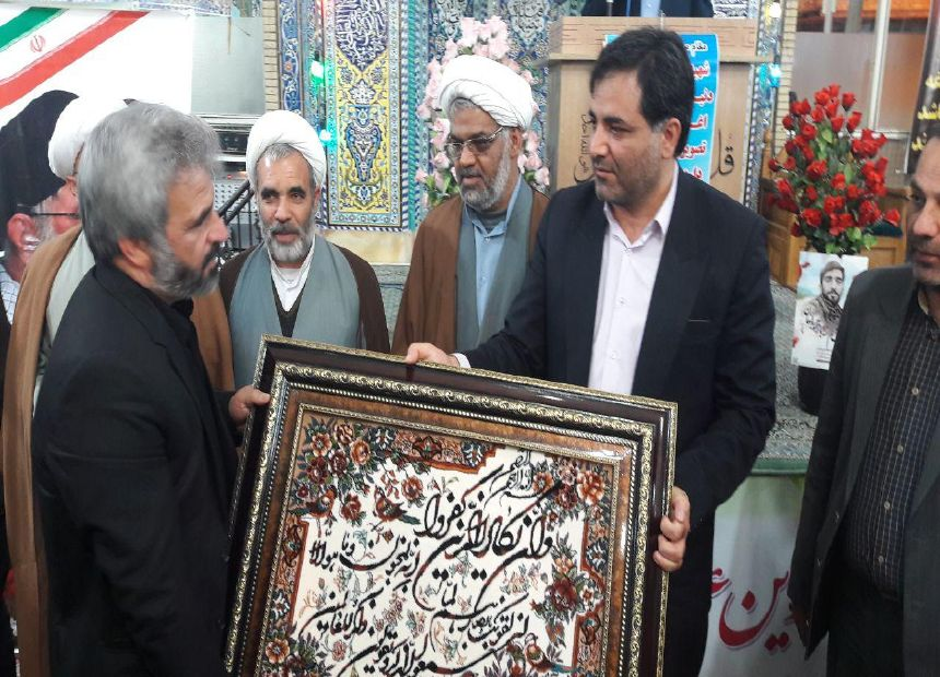تجلیل از خانواده ی گرانقدر شهید والا مقام محسن حججی درمحله گارماسه فلاورجان