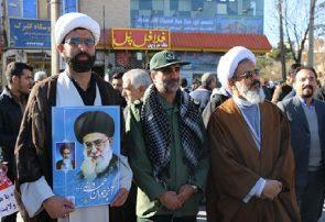 قیام مردم شهرستان فلاورجان در برابر آشوبگران+فیلم