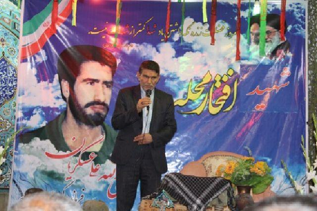 مراسم شهید آبروی محله به یاد بود سردار شهید نبی الله  عسگریان+تصاویر