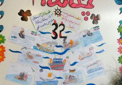 ابراز همدردی کودکان فلاورجانی، با جانباختگان  کشتی سانچی