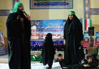 مراسم تعزیه خوانی شهادت حضرت زهرا (س) درفلاورجان برگزارشد