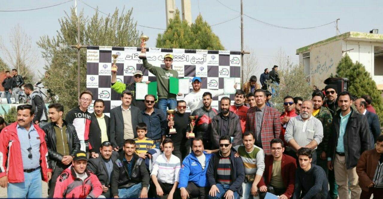 پایان دومین راند  مسابقه اسلالوم موتورسیکلت، قهرمانی استان اصفهان + نتایج