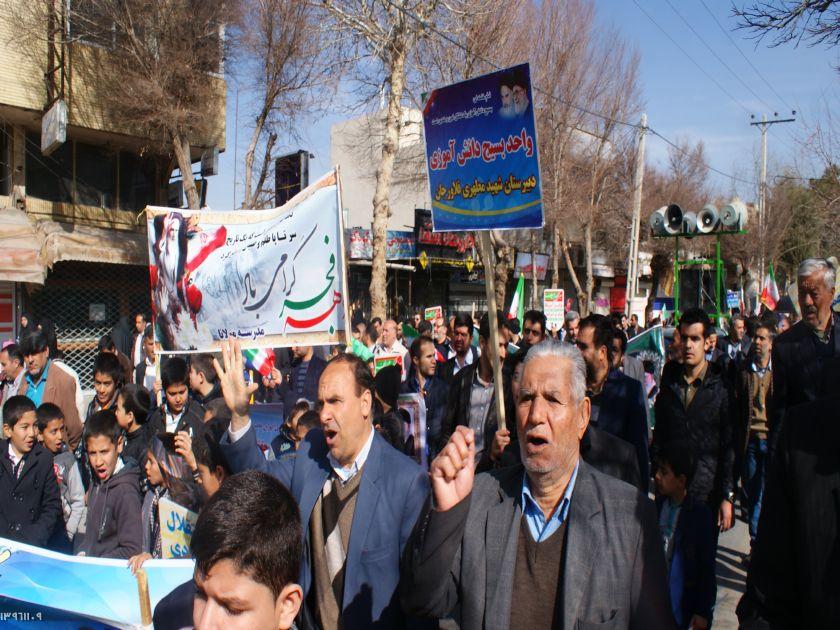 شهر های فلاورجان جلوه گاه تجدیدمیثاق باانقلاب/۲۲بهمن تماشایی در شهرستان شهدای خط شکن