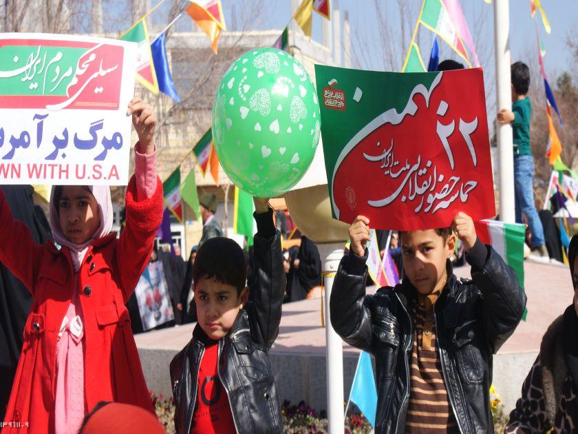 راهپیمایی باشکوه ۲۲ بهمن در شهر فلاورجان +تصاویر
