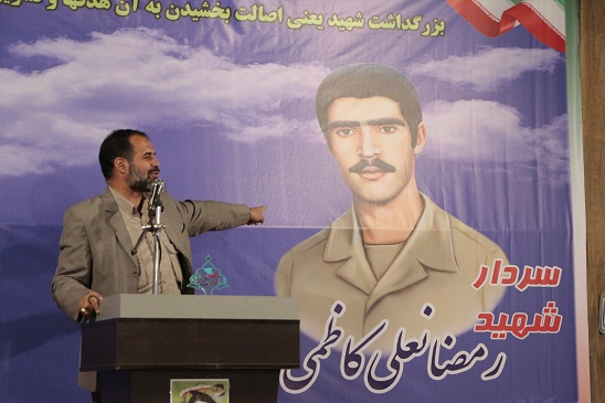 مراسم شهید آبروی محله یاد بود سردار شهید رمضانعلی کاظمی :تصاویر