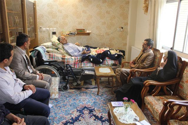 دیدار هیات رئیسه دانشگاه آزاد اسلامی فلاورجان  با سردار نصر اصفهانی جانباز دفاع مقدس