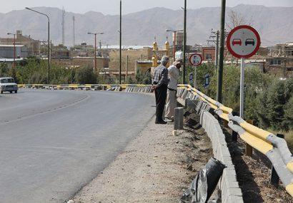آغاز ایمن سازی پل روگذر اتوبان از شهر فلاورجان به طرف گارماسه