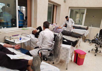 طرح بزرگ نذر خون به مناسبت ایام ماه محرم در شهر قهدریجان برگزار شد