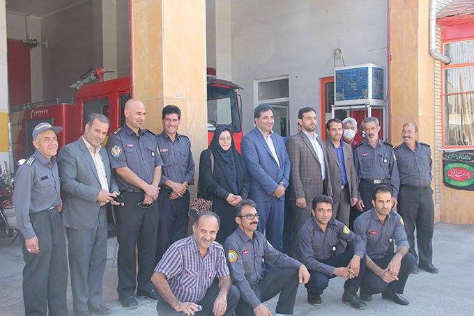 دیدار شهردار و اعضای شورای اسلامی شهر فلاورجان با کارکنان آتش نشانی