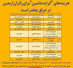 کرایه حمل ونقل زائران اربعین ۹۷ازمرزهای ایران اعلام شد