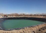 بهره برداری از استخر ذخیره آب  درنهالستان شهرداری فلاورجان