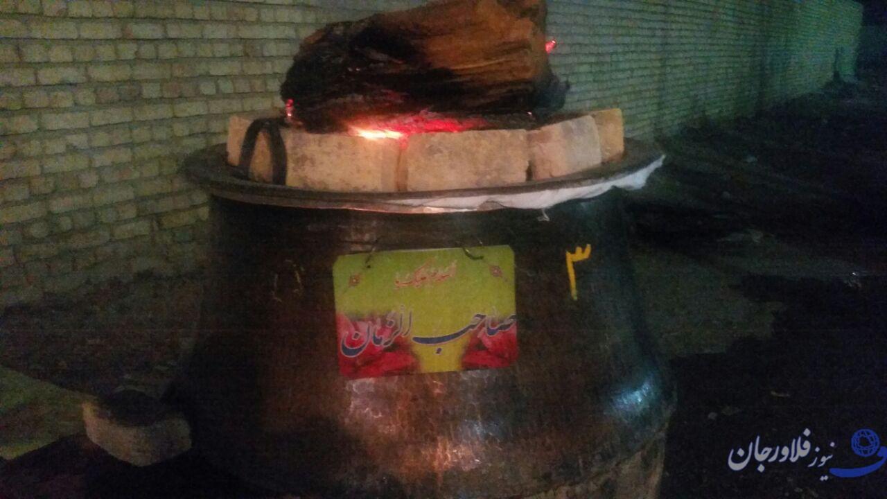 پخت ۱۵ دیگ سمنو در آستان مقدس امامزاده سید محمد(ع) قهدریجان