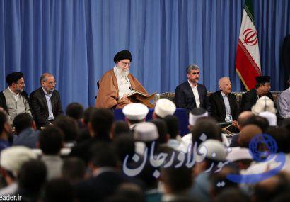 شرکتکنندگان درمسابقات بینالمللی قرآن با رهبر انقلاب دیدار کردند