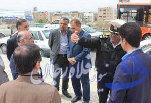 بازدید از پل هوایی زندان و بازنگری مشکلات ترافیکی آن