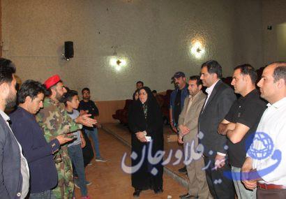 حضور شهردار و اعضای شورای شهر فلاورجان در تئاتر سربازان فراری