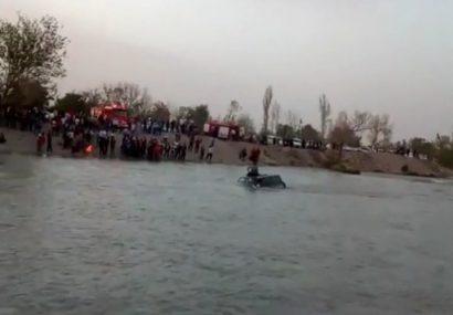 سقوط خودروی پاترول در رودخانه زاینده رود وآتش سوزی مغازه مکانیکی در ایمانشهر