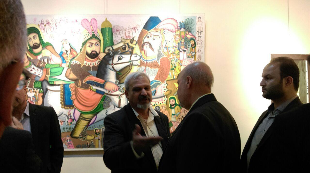 حضور هنرمند فلاورجانی در همایش ملی خوشنویسی و نگارگری
