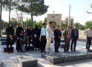 حضور کتابداران شهرستان فلاورجان در گلزار شهدا
