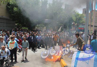 راهپیمایی روز قدس در فلاورجان  برگزار شد