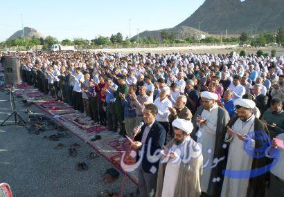 گزارش تصویری: نماز عید سعید فطر در شهر بهاران