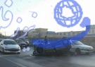 واژگونی خودروی سواری در اتوبان ذوب آهن اصفهان  + عکس