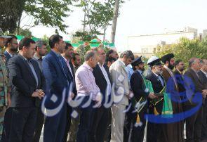 کاروان سفیران کریمه به مقام شامخ شهدای فلاورجان ادای احترام کردند+تصاویر
