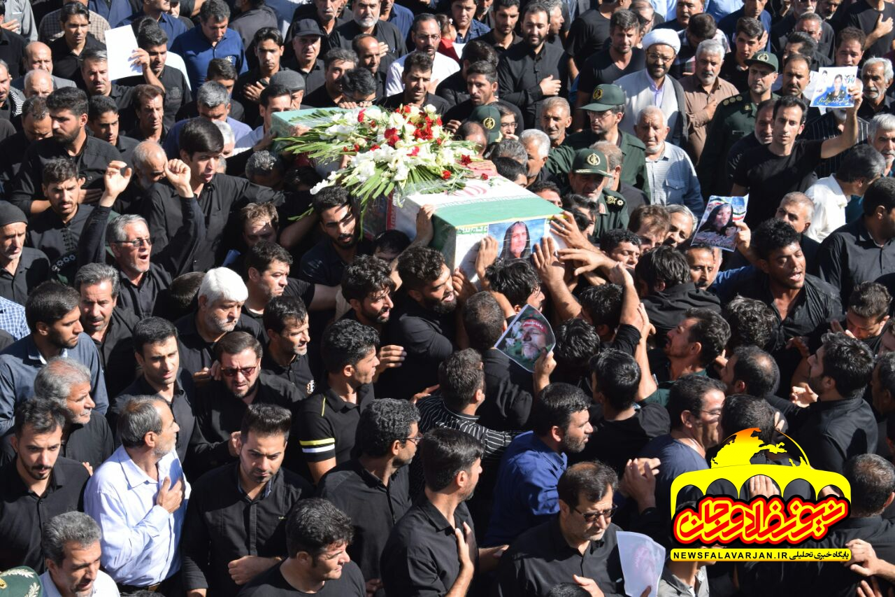 مراسم تشییع و خاکسپاری سردار شهید محمود توکلی درفلاورجان برگزار شد