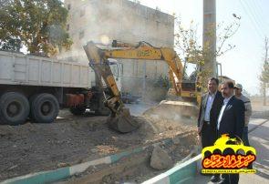 بازدید از پروژه های عمرانی شهرداری فلاورجان /نظارت بر عملکرد شهرداری وظیفه ذاتی شورای شهر