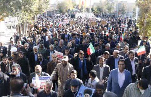 خروش مردم شهرستان فلاورجان  در حمایت از امنیت و اقتدار کشور+عکس