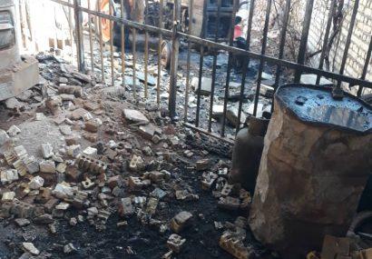 خسارت ۱۰۰ درصدی به انبار وسایل و ادوات کشاورزی در روستای جولرستان/عملکرد ضعیف آتش نشانی شهر ابریشم