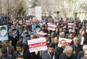 راهپیمایی مردم فلاورجان در پی شهادت«سردارسلیمانی»