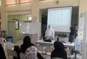 آموزش داوطلبان مراقبت از بیماران مبتلا به کرونا دردانشگاه آزاد فلاورجان