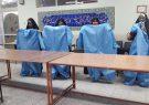 کارگاه جهادی تولید البسه بیمارستانی توسط خادمان خواهر موکب امام حسین شهر قهدریجان
