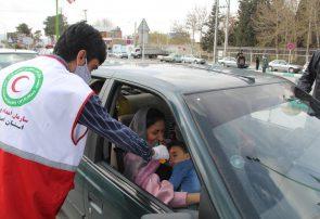 غربالگری کرونا در ورودی شهر فلاورجان +تصاویر