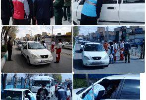 استقرار تیم کنترل سلامت در ورودی شهر کلیشادوسودرجان