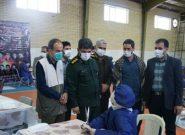 فرمانده ناحیه مقاومت بسیج فلاورجان از کارگاه تولید ماسک بازدید کرد +تصویر