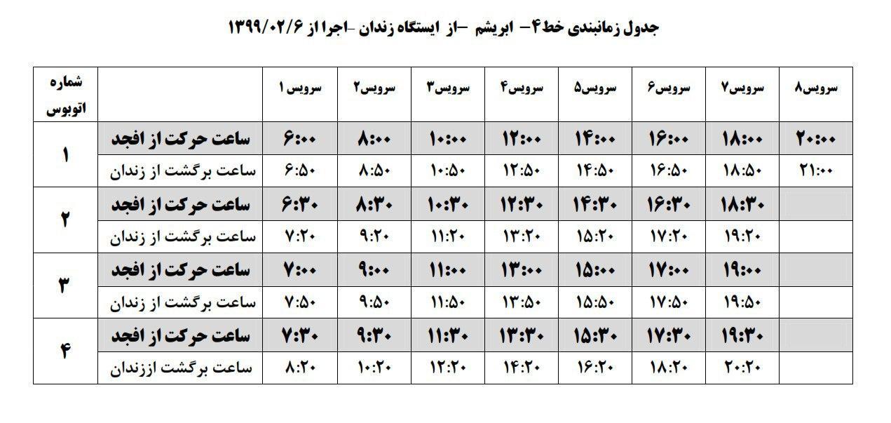 زمانبندی حرکت اتوبوس های سازمان حمل و نقل جمعی شهرداریهای شهرستان فلاورجان