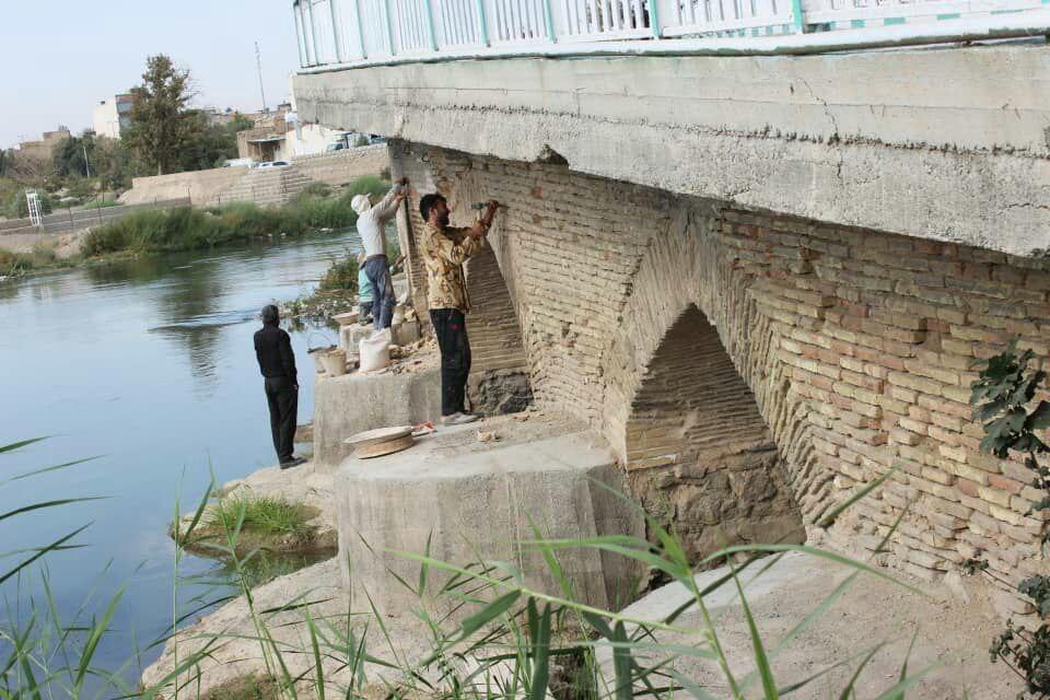 آغاز مرمت پل تاریخی شهر فلاورجان +تصاویر