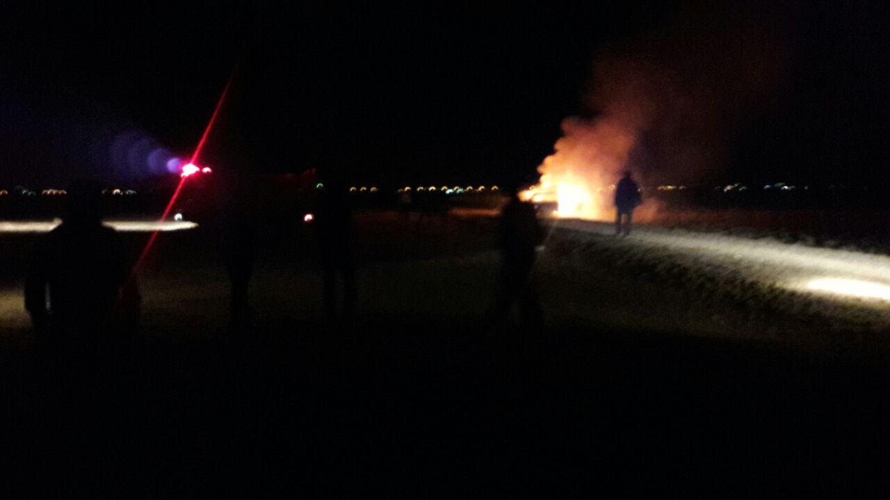 سوزاندن یک دستگاه خودروباسرنشین درفلاورجان