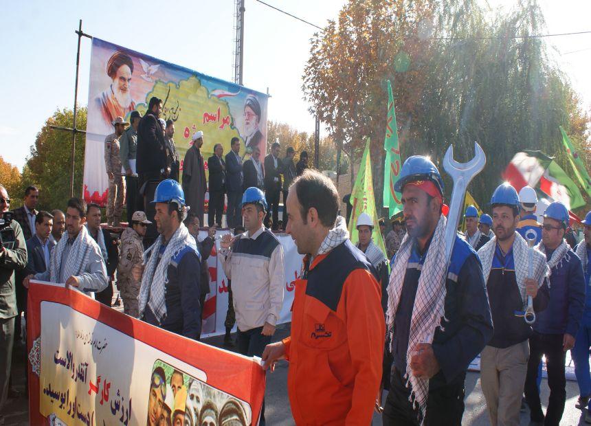 رژه یگانهای بسیج درشهرستان فلاورجان+تصاویر ۲
