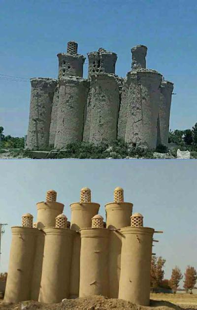 اتمام عملیات مرمت برج کبوترخانه اجگرد در شهربهاران