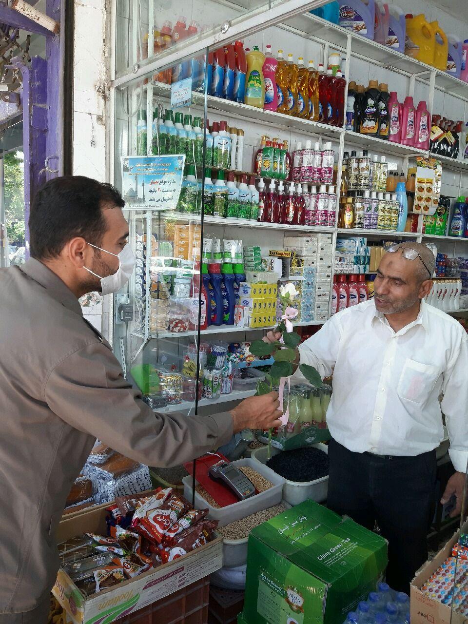 دیدار و سرکشی از بازاریان شهرستان فلاورجان به مناسبت روز ملی اصناف